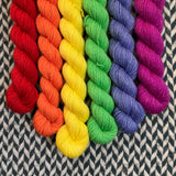 Sun Dog *6 Mini-Skein Set* -- Broadway sparkle sock yarn -- ready to ship