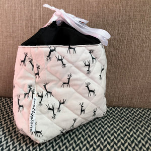 BLACK DEER -- project bag -- ready to ship