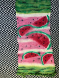 WATERMELON SLICES -- hand-painted double-stranded sock blank -- ready to ship yarn