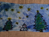 WINTER WONDERLAND -- hand-painted sock blank -- dyed to order yarn