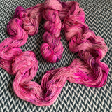 I'M A BARBIE GIRL -- Alphabet City tweed sock yarn -- ready to ship