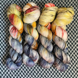 TAXIS IN THE RAIN -- Broadway sparkle sock yarn -- ready to ship