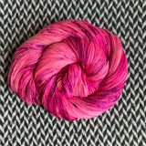 I'M A BARBIE GIRL  -- Broadway sparkle sock yarn -- ready to ship