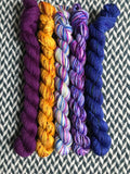 Moonwake *5 Mini-Skein Set* -- Broadway sparkle sock yarn -- ready to ship