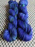 DON'T PANIC, PEACOCK -- Greenwich Village DK yarn -- ready to ship