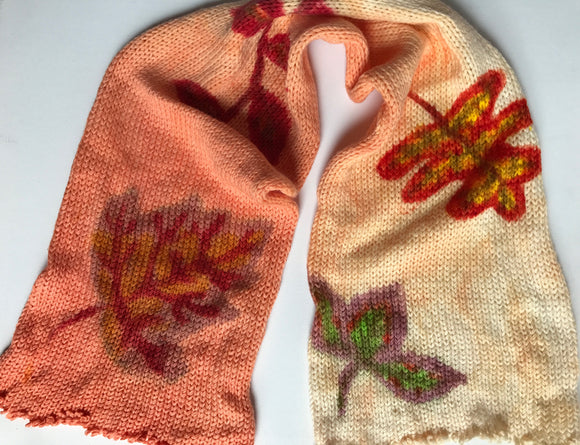 AUTUMN LEAVES -- hand-painted sock blank -- dyed to order yarn