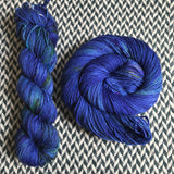 DON'T PANIC, PEACOCK -- dyed to order yarn