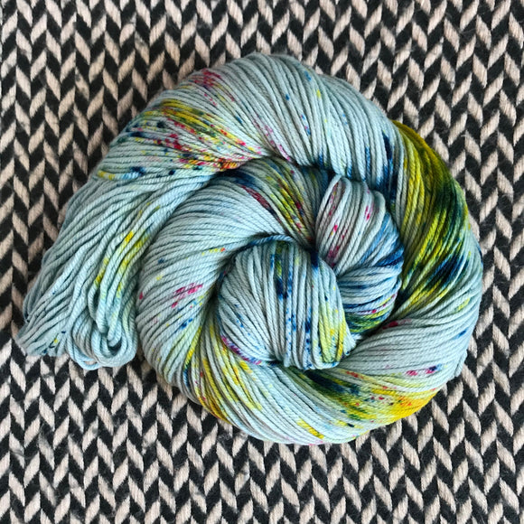 OCEAN OF YOUR BUTTERFLIES -- Greenwich Village DK yarn -- ready to ship
