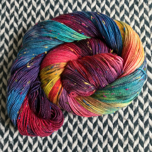 DUSK RAINBOW -- dyed to order yarn