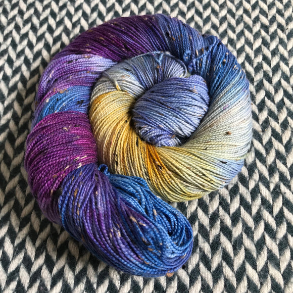 DEW JEWELS -- Alphabet City tweed sock yarn -- ready to ship