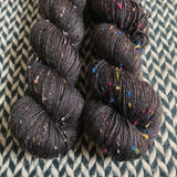 BLACKBIRD -- Alphabet City tweed sock yarn -- ready to ship