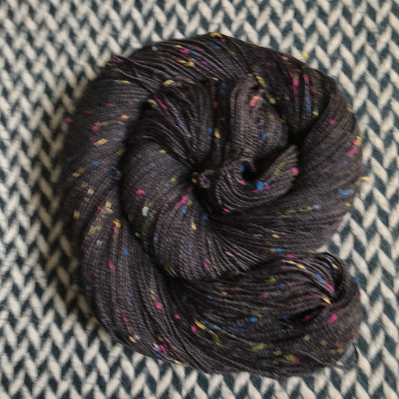 NIGHT SMOKE -- Alphabet City tweed sock yarn -- ready to ship