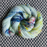OCEAN OF YOUR BUTTERFLIES -- Harlem sock yarn -- ready to ship