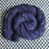 NAVY STORM -- Alphabet City tweed sock yarn -- ready to ship