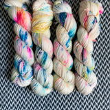 THE COLOR PARROT -- Brooklyn Bridge merino worsted weight yarn-- ready to ship