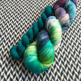 MONET'S AFTERNOON with Teal * Times Square Sock Set * -- full-size skein with mini-skein -- ready to ship yarn