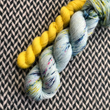 OCEAN OF YOUR BUTTERFLIES with Peep * Times Square Sock Set * -- full-size skein with mini-skein -- ready to ship yarn