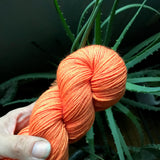 IN LIVING CORAL -- dyed to order yarn