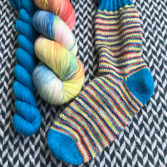 SLICE OF LIFE with Strut * Times Square Sock Set * -- full-size skein with mini-skein -- ready to ship yarn