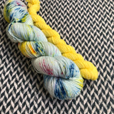 OCEAN OF YOUR BUTTERFLIES with Peep * Harlem Sock Set * -- full-size skein plus mini-skein -- ready to ship yarn