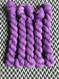 Lavender Macaron -- mini-skein -- Times Square sock yarn-- ready to ship