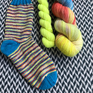 SLICE OF LIFE with Citron Toxique * Broadway Sparkle Sock Set * -- full-size skein with mini-skein -- ready to ship yarn