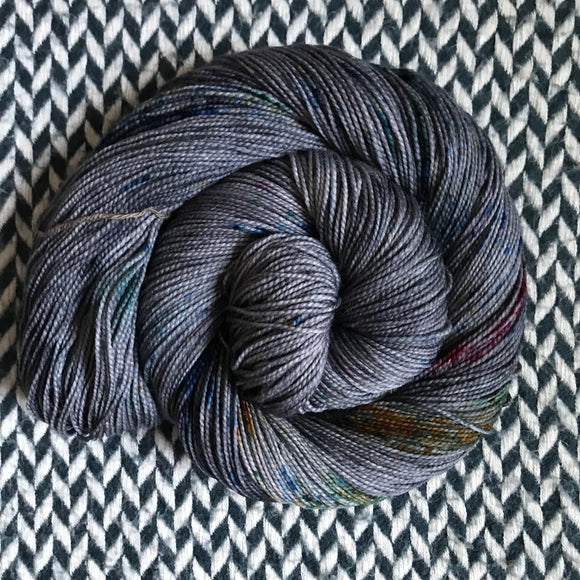 BEJEWELED SLATE -- Harlem sock yarn -- ready to ship