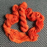 IN LIVING CORAL -- Times Square merino/nylon sock yarn -- ready to ship
