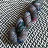 BEJEWELED SLATE -- Broadway sparkle sock yarn-- ready to ship