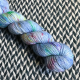 CARE BEAR STARE -- Half-Skein -- Broadway sparkle sock yarn -- ready to ship