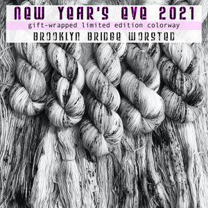 "NEW YEAR 2021 ""Celebrate with Love"" -- Brooklyn Bridge worsted -- Limited Edition yarn"