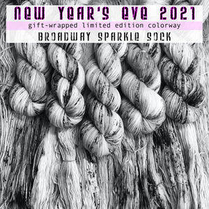 "NEW YEAR 2021 ""Celebrate with Love"" -- Broadway sparkle sock -- Limited Edition yarn"