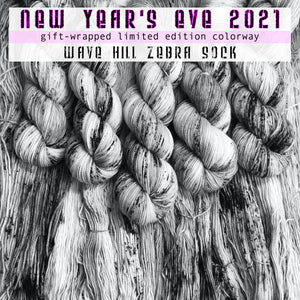 "NEW YEAR 2021 ""Celebrate with Love"" -- Wave Hill zebra sock -- Limited Edition yarn"