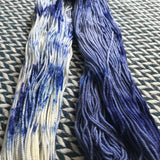 ACID WASH JEANS -- dyed to order yarn