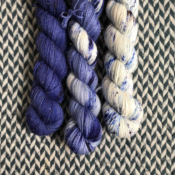 FAVORITE JEANS *3 Half-Skein Set*-- Broadway Sparkle sock yarn --ready to ship