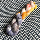TAXIS IN THE RAIN -- Times Square sock yarn -- ready to ship