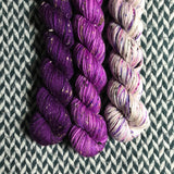 HAPPY DANCE *3 Half-Skein Set*-- Alphabet City tweed sock yarn --ready to ship