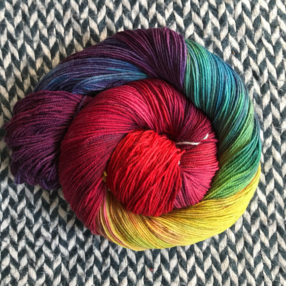 DUSK RAINBOW -- Times Square sock yarn -- ready to ship