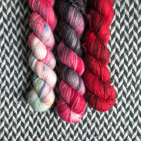 NEW YORK MILKSHAKE *3 Half-Skein Set*-- Broadway Sparkle sock yarn --ready to ship