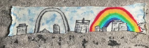 CITY or LANDSCAPE (choose your city/scenery)-- hand-painted sock blank -- dyed to order yarn