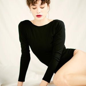The SALON Bodysuit | Black - NALU