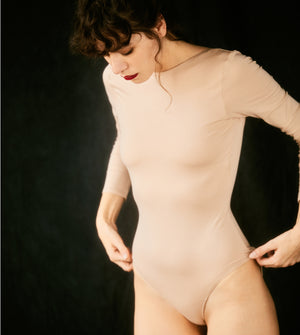 The SALON Bodysuit | Nude - NALU