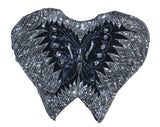 Sequined Iridescent Butterfly Top S