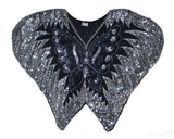 Nifty Thrifty Love Vintage Sequined Iridescent Butterfly Top S