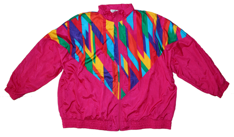 Nifty Thrifty Love Vintage 80's Track Jacket Colorful