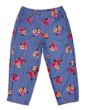 Nifty Thrifty Love Vintage Floral Capri Pants