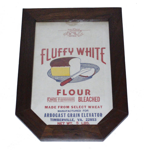 Custom Framed Fluffy White Novelty Paper Flour Sack Bag 5lbs