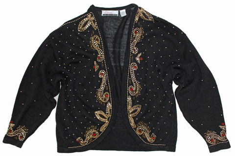 Nifty Thrifty Love Vintage Beaded Cardigan Sweater