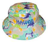 Nifty Thrifty Love 80s Retro Hawaii Tropical Bucket Hat