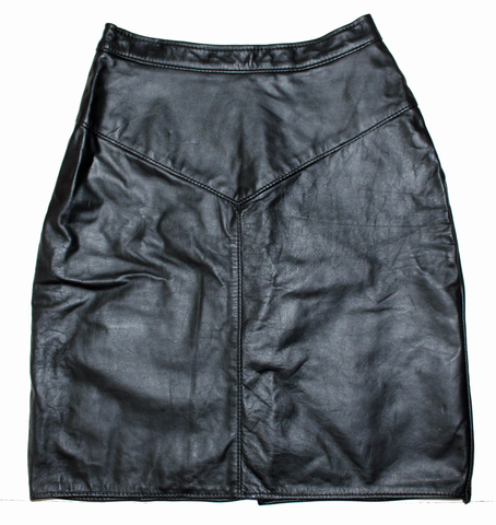 Night Sky Leather Skirt M